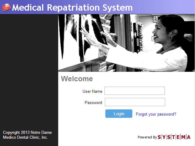 Medical Repatriation System